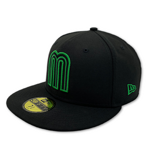 NEW ERA OFFICIAL WBC MEXICO TEAM 59FIFTY FITTED HAT-BLK