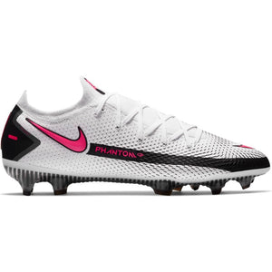 Nike Phantom GT Elite FG - WHITE/PINK BLAST-BLACK