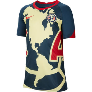 Nike Club América Big Kids' Pre-Match Short-Sleeve Soccer Top