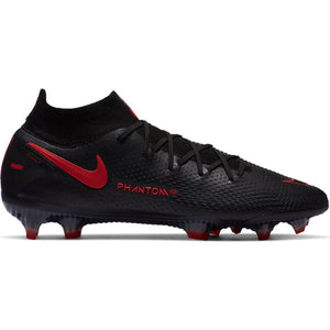 Nike Phantom GT Elite Dynamic Fit FG-BLACK/CHILE RED-DK SMOKE GREY