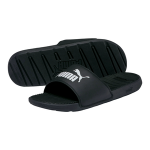 PUMA Cool Cat Men's Slides- BLACK/WHITE