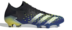 Adidas Predator Freak . 1 Low FG - Core Black/Cloud White/ Solar Yellow