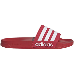 ADIDAS ADILETTE SHOWER SLIDES-SCARLET/WHITE