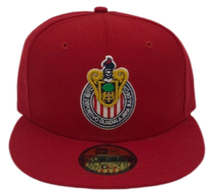 NEW ERA MX CHIVAS DE GUADALAJARA  59FIFTY FITTED HAT-RED/RED