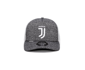 FI COLLECTIONS JUVENTUS DRIBBLING TRUCKER SNAPBACK HAT-GREY/WHITE