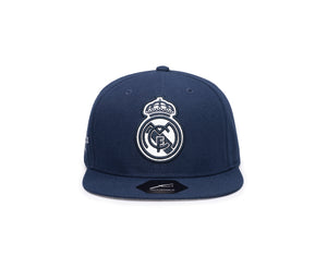 FI COLLECTIONS REAL MADRID BRAVEHEART SNAPBACK HAT-NAVY/WHITE
