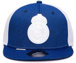 FI COLLECTION REAL MADRID DRIBBLING SNAPBACK HAT-NAVY/WHITE