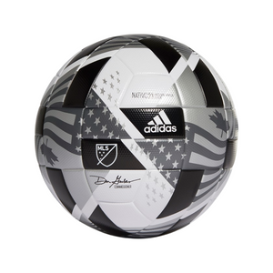 ADIDAS MLS NFHS LEAGUE BALL-White / Black / Iron Metallic / Silver Metallic