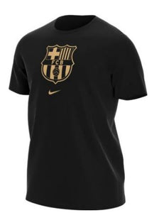 NIKE FC BARCELONA MEN'S T-SHIRT-BLACK/GOLD