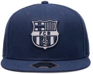 FI COLLECTIONS BARCELONA BRAVEHEART SNAPBACK HAT-NAVY/WHITE