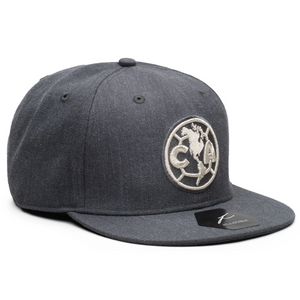 Fi Collections Club America Platinum Snapback-Heather Black