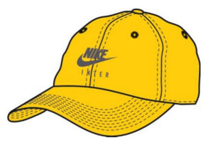 NIKE INTER MILAN HERITAGE86 ADJUSTABLE HAT- YELLOW