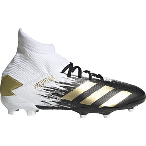 ADIDAS JR PREDATOR 20.3 FG-WHITE/GOLD/CORE BLACK