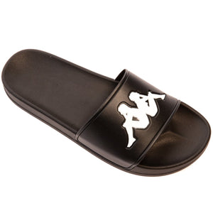 KAPPA AUTHENTIC ADAM 2 SLIDES - BLACK WHITE