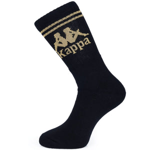 KAPPA AUTHENTIC ASTER 1 PACK SOCKS - BLACK GOLD