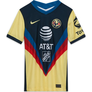 Nike Youth Club America Stadium Home Jersey 20/21 - Armory Navy/Yellow/Armory Navy