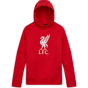 Nike Youth Liverpool F.C Fleece Pullover Soccer Hoodie-Red