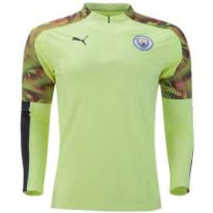 PUMA MANCHESTER CITY 1/4 ZIP TOP- VOLT/PURPLE