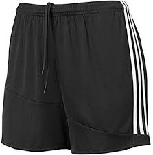 ADIDAS WOMEN'S REGISTA 16 SHORTS - BLACK/WHITE
