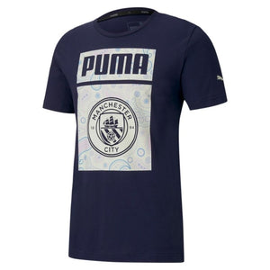 PUMA MANCHESTER CITY F.C FTBL CORE TEE-PEACOAT/WHISPER/WHITE