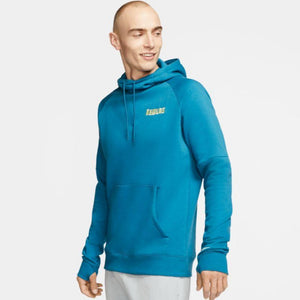 Nike Men's Club America GFA Fleece Soccer Hoodie - Industrial Blue/Lemon Chiffon