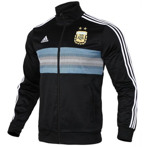 Adidas Men's Argentina 3 Stripes Track Jacket 2018 Black-White