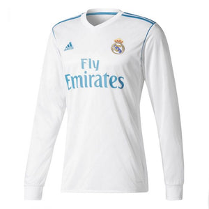 Adidas Men's Real Madrid Long Sleeve Home 17/18 Jersey