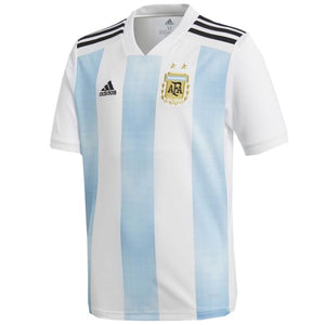 Adidas Men's Argentina Home Jersey 18/19 - White/Clear Blue