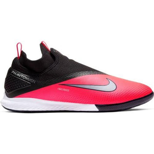 Nike Jr. Phantom Vision 2 Academy Dynamic Fit IC - Laser Crimson/Metallic Silver-black