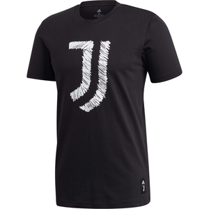 ADIDAS JUVENTUS DNA GRAPHIC T-SHIRT-BLACK/WHITE