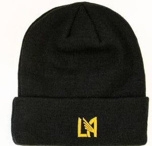 LAFC New Era Primary Logo Cuffed Knit Hat - Black
