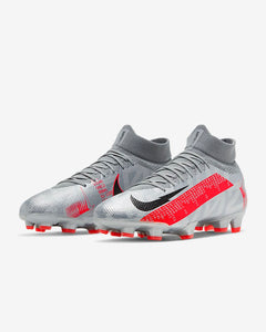 Nike Mercurial Superfly 7 Pro FG- Metallic Grey/Laser Crimson