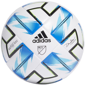 ADIDAS MLS LGE NFHS SOCCER BALL-WHITE / BLUE / GREEN / BLACK