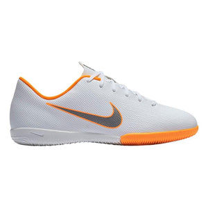 NIKE JR VAPOR X 12 ACADEMY IC-WHITE/ORANGE