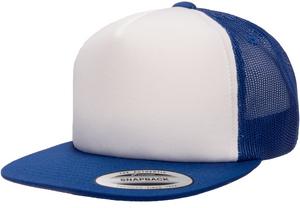 Classics™ Flat Bill Foam Trucker Cap-Royal/White/Royal