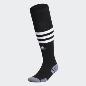ADIDAS 3 STRIPE HOOP SOCKS-BLACK/WHITE
