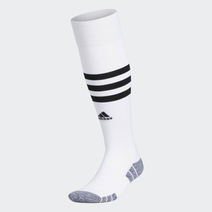 ADIDAS 3 STRIPE HOOP SOCKS-WHITE/BLACK