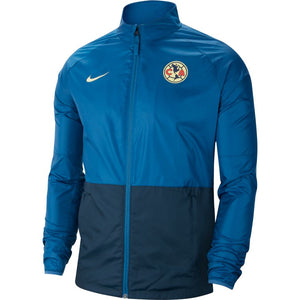 Nike Men's Club America Repel Academy Soccer Jacket - Industrial Blue/Lemon Chiffon