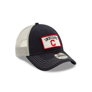 CLEVELAND INDIANS NEW ERA TRUCKER B1 9FORTY ADJUSTABLE-NAVY