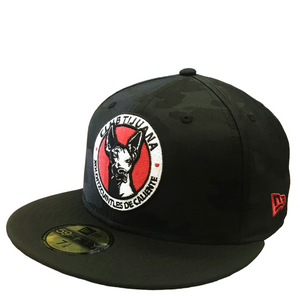 CLUB TIJUANA XOLOS NEW ERA OFFICIAL LIGA MX CAMO 59FIFTY FITTED HAT-BLACK