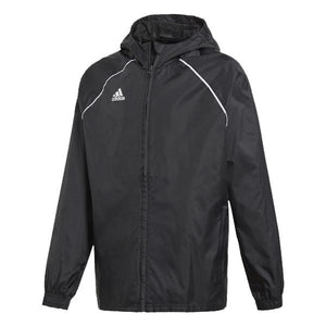 Adidas Youth Core 18 Rain Jacket - Black