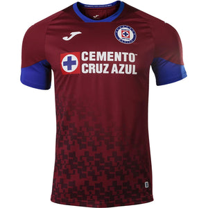 Joma Men's Cruz Azul Third Jersey 20/21 - Burgundy/White