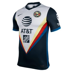 Nike Men's Club America Stadium Away Jersey 20/21 - Armory Navy/White/Armory Navy