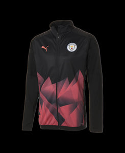 PUMA MANCHESTER CITY STADIUM JACKET BLACK/PEACH