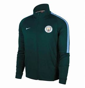 Nike Men's Manchester City FC Authentic N98 Track Jacket-Green/Field Blue
