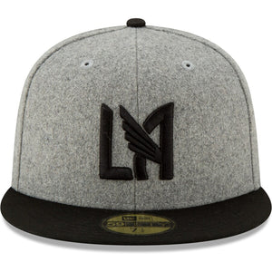 New Era LAFC Gray Melton 59FIFTY Fitted Hat-GREY