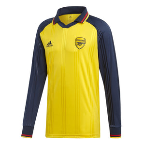 Adidas Men's Arsenal FC Icons L/S Jersey - Yellow / Collegiate Navy