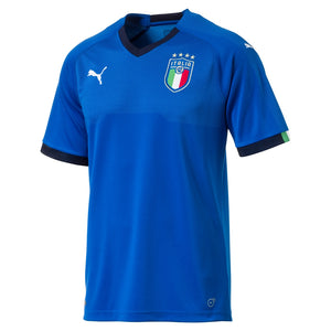 PUMA MEN'S ITALY HOME JERSEY 17/18 TEAM POWER BLUE/PEACOAT