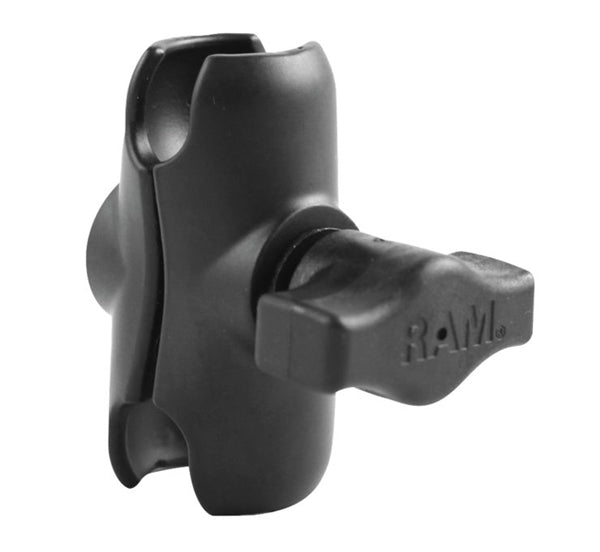 "RAM Mounts Arms; Short double socket arm for 1"" ball bases; overall length: 2.38""; socket-to-socket length: 2"""