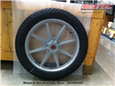 Wheel & Tire Assembly Silver Powder Coated
